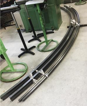 スチール鋼管 定尺5500Lの曲げ加工